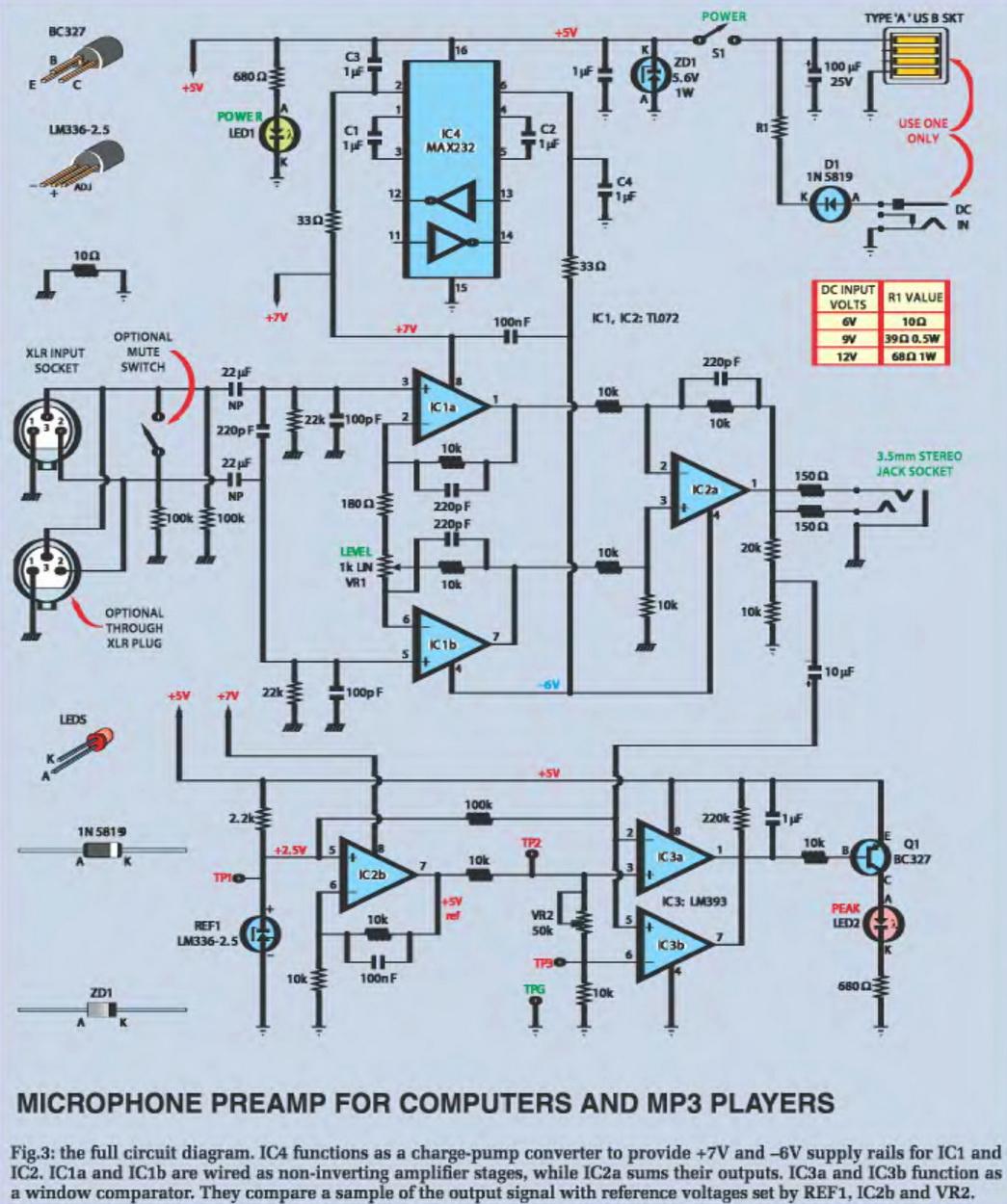 Схема блока питания к антенному усилителю